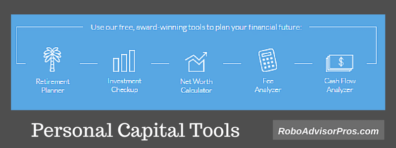 Personal Capital Tools -Retirement, Investment, Net Worth, Fee + Cash Flow Analyzers
