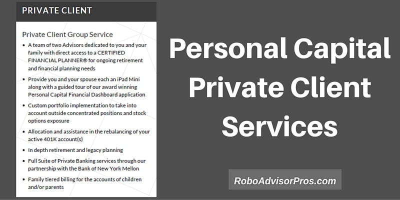 Personal Capital advisors private client services