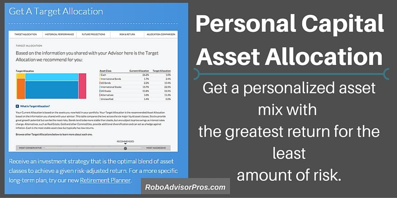 Personal Capital target asset allocation