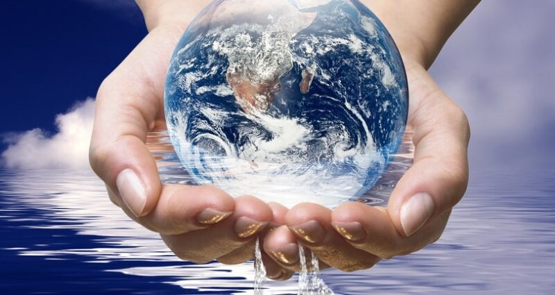 save the world-world in hands