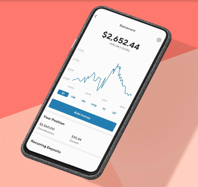 sofi invest mobile view