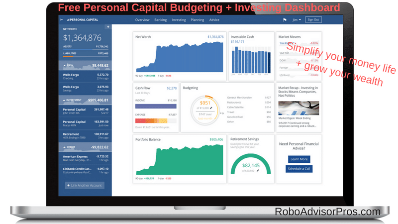 Sign up for Persoanl Finance Dashboard for complete control of budgeting + investment management