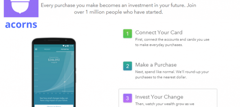 Acorns review app. Acorns robo-advisor for small investors.