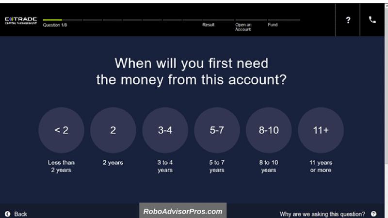 E*TRADE Adaptive Portfolio Review - robo investing questionnaire