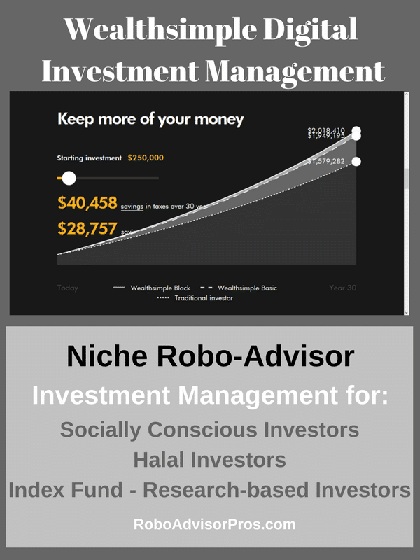 Wealthsimple review for Halal, SRI and index fund investors.