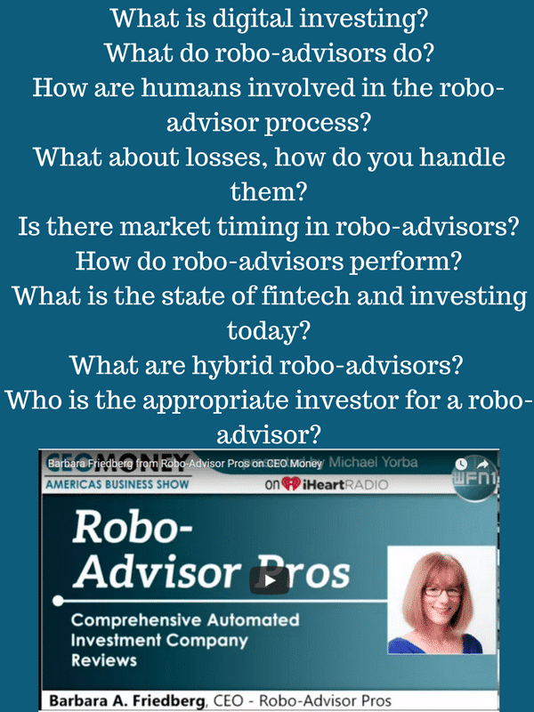 robo advisor basics - radio interview