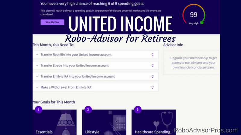 United Income - robo adviser for retirees with all the bells and whistles