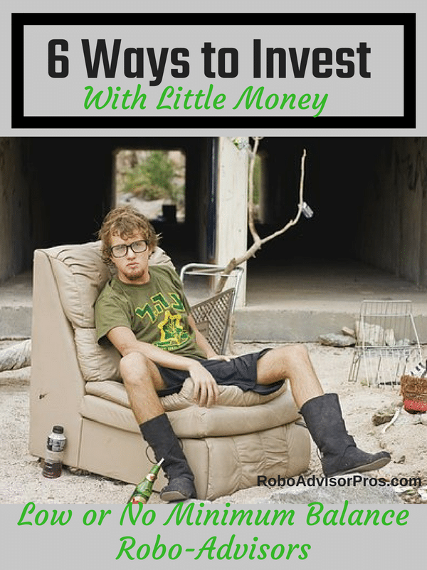 6 Ways to Invest With Little Money. Invest with $300 or less.