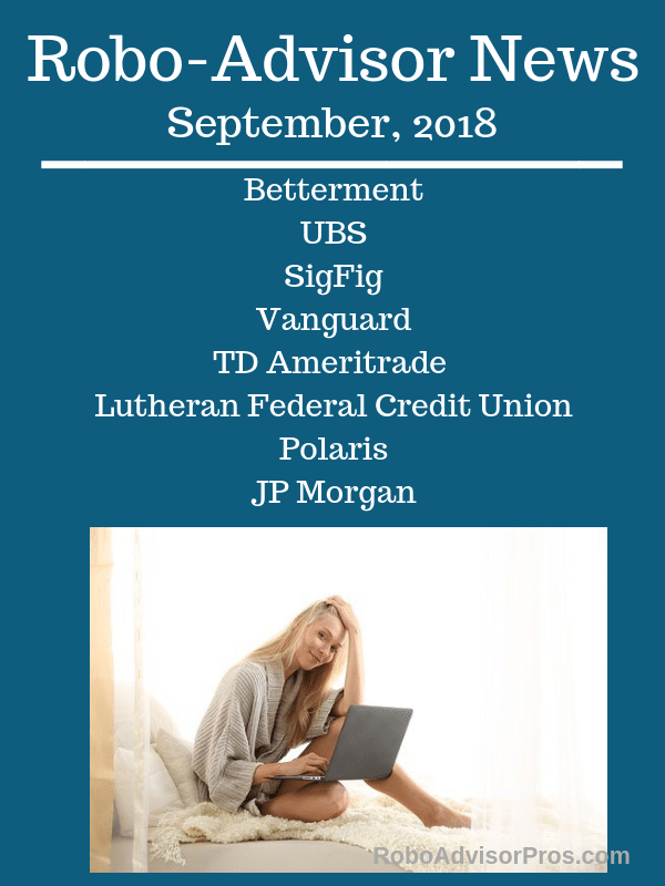 robo-advisor news september 2018