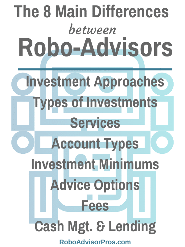 main differences between robo-advisors