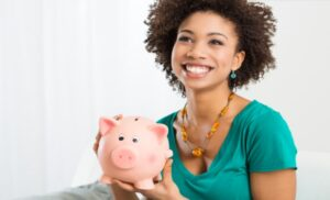 women with bank