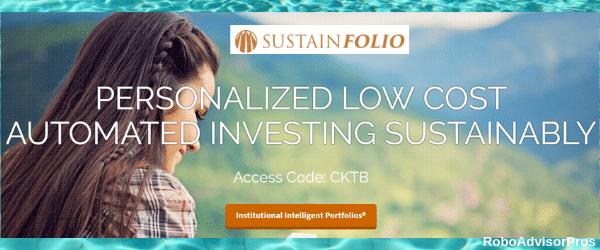 Sustainfolio Robo-Advisor homepage