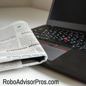 robo-advisors news - computer - newspaper