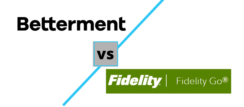 Betterment vs Fidelity Go logos