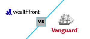 wealthfront vs vanguard logos