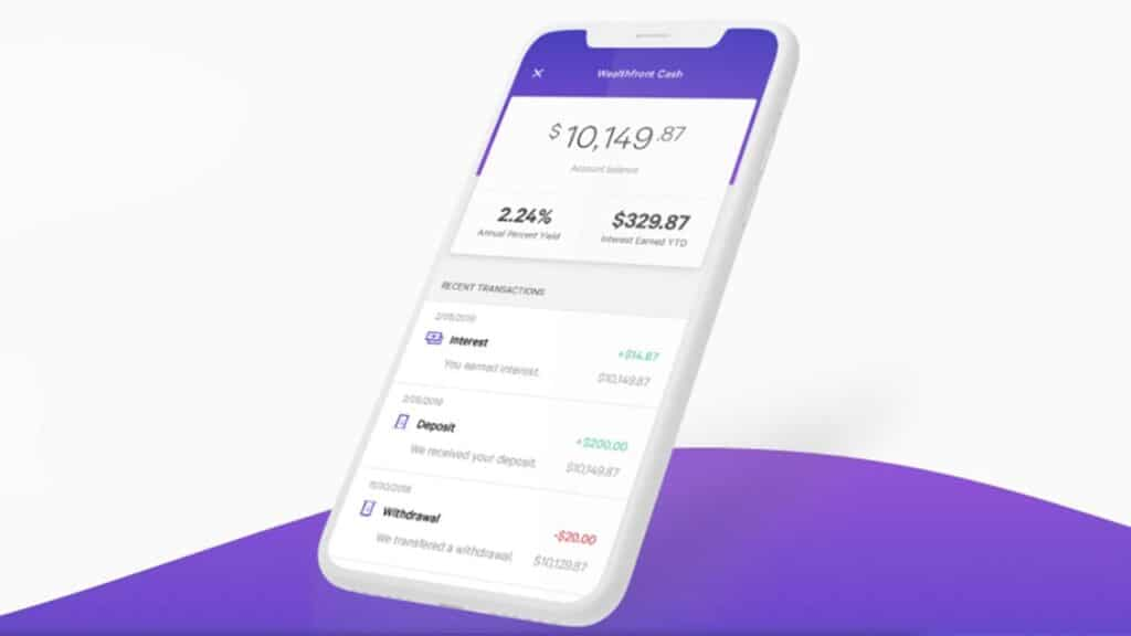 wealthfront cash account mobile image