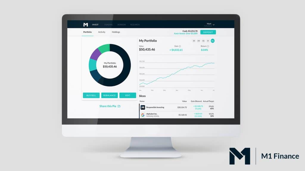 m1 finance dashboard