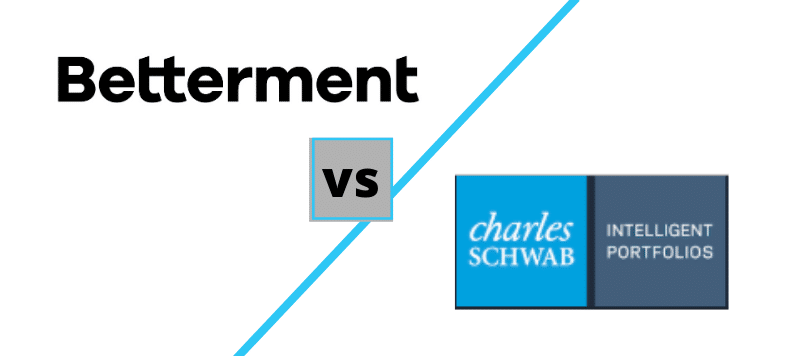 Betterment vs Schwab Intelligent Portfolios logos