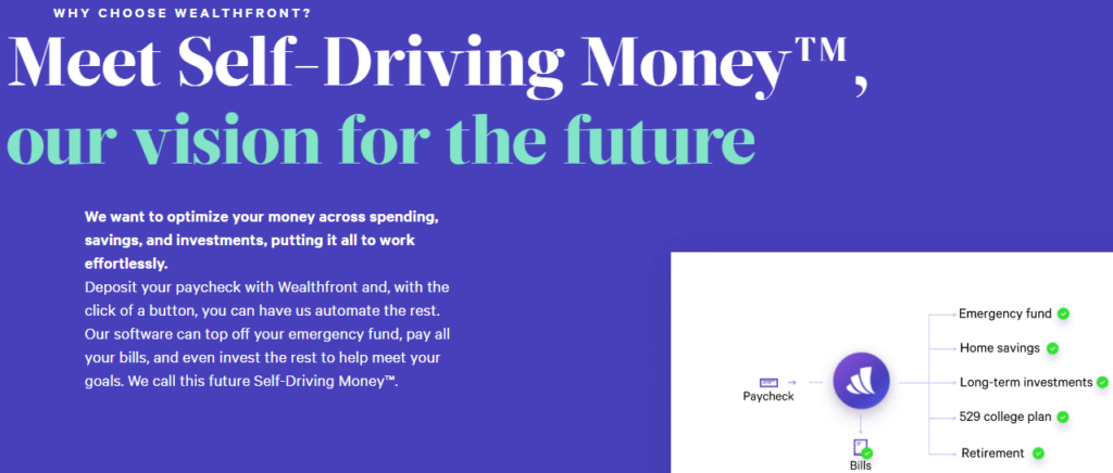 wealthfront self driving money description
