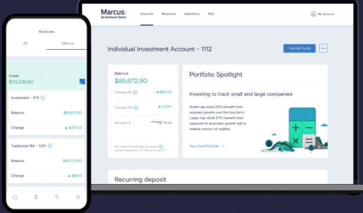 Marcus Invest Review Screenshot