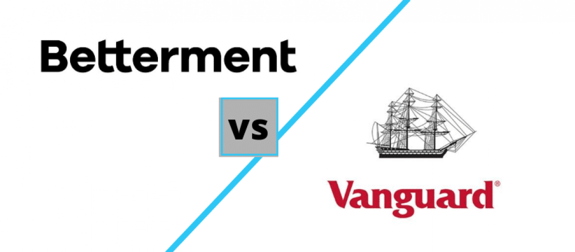 Betterment vs Vanguard logos