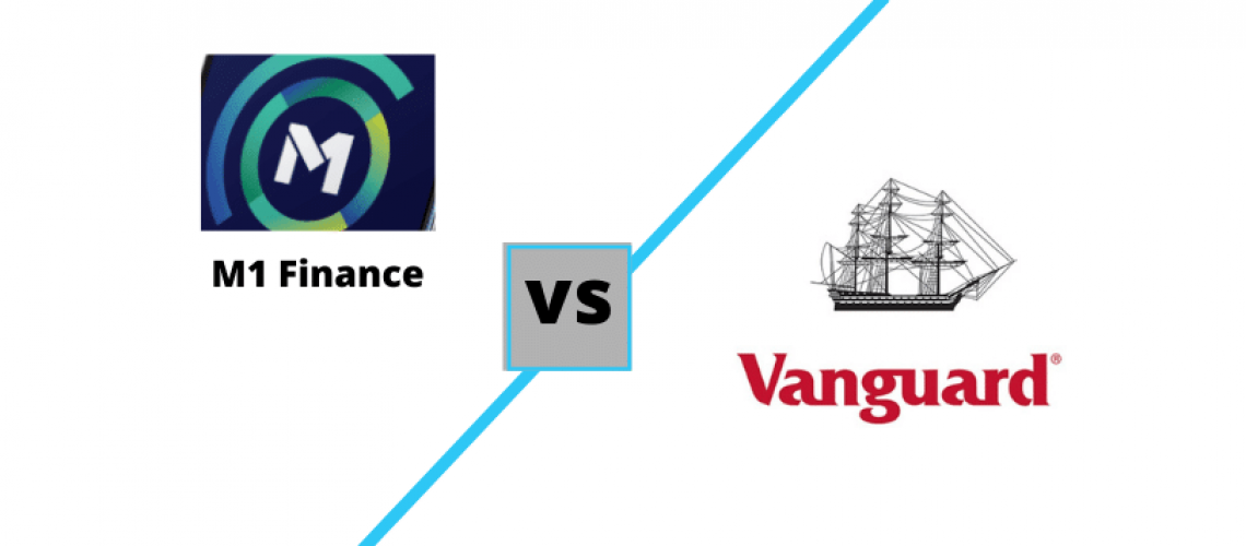 M1 Finance vs Vanguard logos