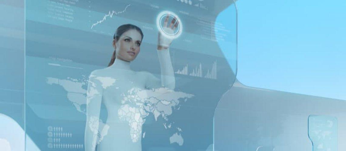 future of robo advisors - woman with digital tools