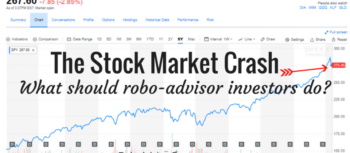 A stock market crash is a signal for robo advisor investors to stay put, or invest more.