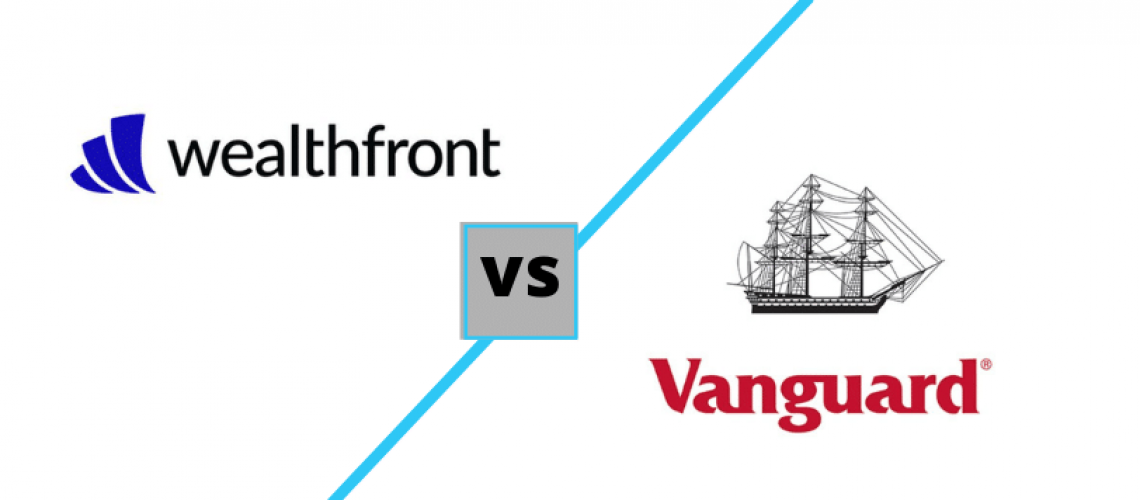 wealthfront vs vanguard logos